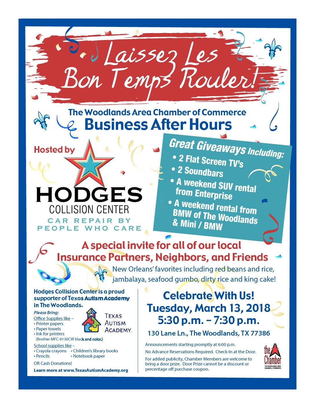 HODGES Collision Center The Woodlands Chamber Business After Hours Event